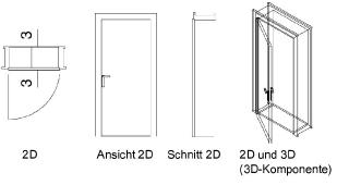 eingangst r detail schnitt. Black Bedroom Furniture Sets. Home Design Ideas